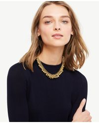 Ann Taylor | Metallic Bauble Necklace | Lyst