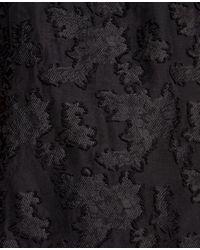 Ann Taylor - Black Jacquard Lantern Sleeve Top - Lyst