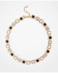 Ann Taylor - Black Flower Necklace - Lyst