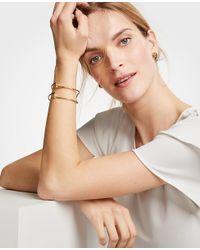 Ann Taylor - Metallic Sculptural Cuff Bracelet - Lyst