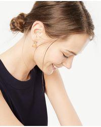 Ann Taylor - Multicolor Small Bezel Drop Earrings - Lyst