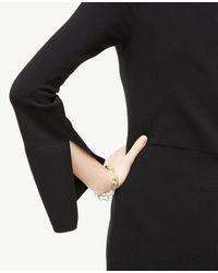 Ann Taylor | Black Tall Slit Sleeve Flare Sweater Dress | Lyst