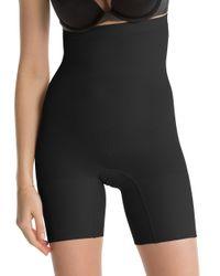 Ann Taylor | Black Spanx Higher Power Shorts | Lyst