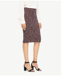 Ann Taylor - Multicolor Curvy Knit Tweed Pencil Skirt - Lyst