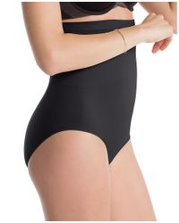 Ann Taylor - Black Spanx Higher Power Brief - Lyst