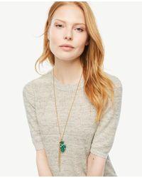 Ann Taylor - Metallic Bauble Pendant Necklace - Lyst