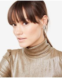 Ann Taylor - Metallic Crystal Cluster Earrings - Lyst