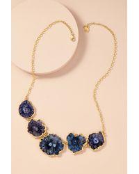 Anthropologie | Blue Druzy Multi-stone Necklace | Lyst