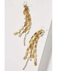 Serefina | Metallic Square Cascade Drop Earrings | Lyst