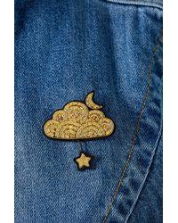 Macon & Lesquoy - Metallic Cloud Star Pin Badge - Lyst