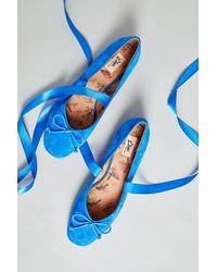 Anthropologie - Blue Isla Ballet Flats - Lyst