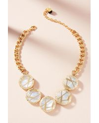 Nocturne - Metallic Ray Pearl Collar Necklace - Lyst