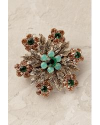 Anthropologie - Green Nataliya Mini Floral Barrette - Lyst