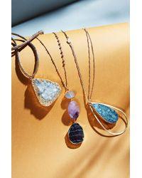 Serefina | Gray Druzy Drop Necklace | Lyst