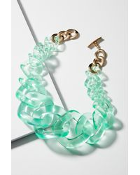 Anthropologie - Green Looped Lucite Necklace - Lyst