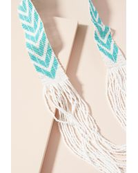 Sidai Designs - Blue Beaded Chevron Necklace - Lyst