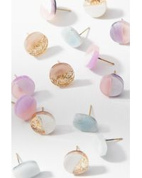 Anthropologie | Multicolor Lucite Post Earring Set | Lyst