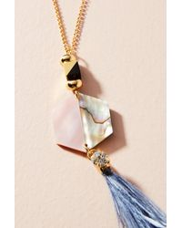 Nocturne | Metallic Shun Feather Pendant Necklace | Lyst
