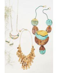 Anthropologie - Blue Destra Pendant Necklace - Lyst