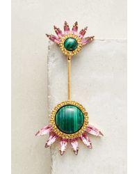 Elizabeth Cole - Green Clarabelle Jacket Earrings - Lyst