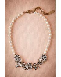 Anthropologie - Metallic Boleyn Pearl Necklace - Lyst