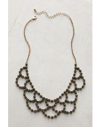 Anthropologie | Metallic Ondine Bib Necklace | Lyst