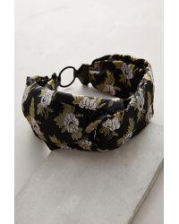 Jennifer Behr | Metallic Citron Flower Silk Headband | Lyst