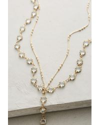 Anthropologie | Multicolor Filament Layer Necklace | Lyst
