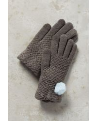 Anthropologie | Gray Pommed Berkshire Gloves | Lyst