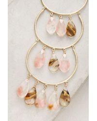 Anthropologie - Multicolor Cherry Drop Pendant Necklace - Lyst