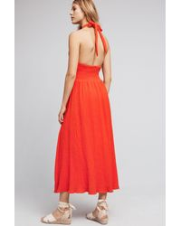 Mara Hoffman | Red Sarria Halter Dress | Lyst