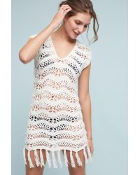 Shoshanna | White Maelys Crocheted Cover-up Tunic | Lyst