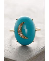 Andrea Fohrman | Metallic Turquoise Cresent Ring | Lyst