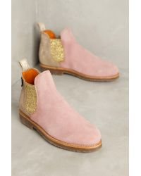 Penelope Chilvers | Pink Patchwork Safari Chelsea Boots | Lyst