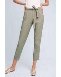 Bishop + Young | Green Merlene Tie-waist Pants | Lyst