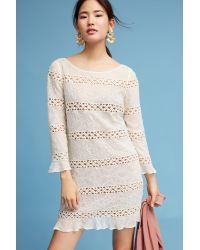 Tracy Reese | White Laced & Beaded Dress | Lyst