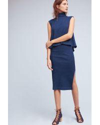 AG Jeans - Blue Ag Indigo Scatri Pencil Skirt - Lyst