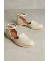 All Black   White Cowman Ankle-strap Flats   Lyst
