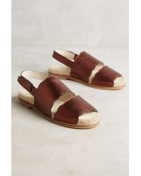 KMB | Brown Double Band Slingback Sandals | Lyst