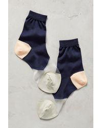 Hansel From Basel | Blue Colorblock Crew Socks | Lyst