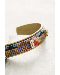 Jill Golden - Orange Inversion Beaded Cuff Bracelet - Lyst
