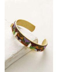 Jill Golden | Purple Inversion Beaded Cuff Bracelet | Lyst