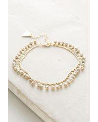 Serefina   Metallic Golden Dew Ankle Bracelet   Lyst