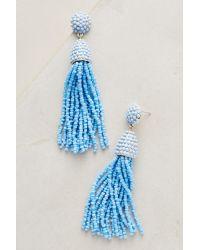 BaubleBar | Sky Blue Tassel Drop Earrings | Lyst