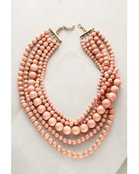 BaubleBar | Pink Globe Layered Bib Necklace | Lyst