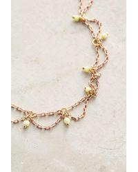 Anthropologie | Metallic Scalloped Ankle Bracelet | Lyst