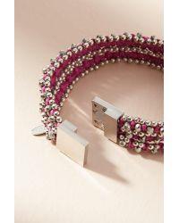 Serefina - Purple Marisol Wrap Bracelet - Lyst