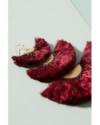 Anthropologie | Red Hierarchy Drop Earrings | Lyst