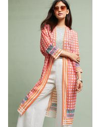 Conditions Apply - Multicolor Broderie Anglaise Longline Jacket - Lyst