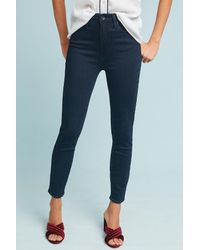 PAIGE - Blue Margot High-rise Cropped Petite Jeans - Lyst